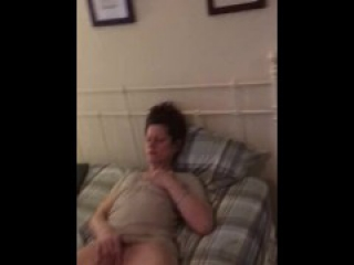 Homemade redhead crackhead masterbating