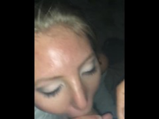 Homemade girlfriend huge facial on the beach